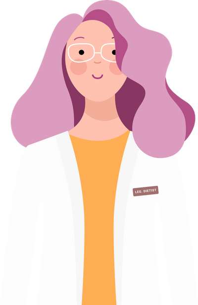 Image of a cartoon female in lab coat