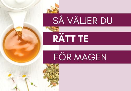 te som är bra för magen