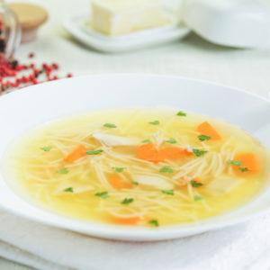 kyckling och nudlar soppa