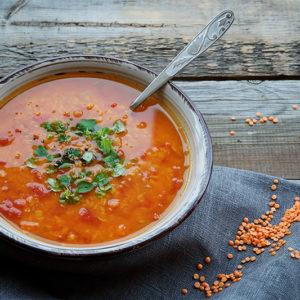 Lins och morotssoppa