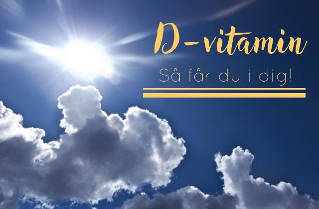 kan man få d vitamin genom fönster